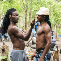 Artiste Togolais dansant